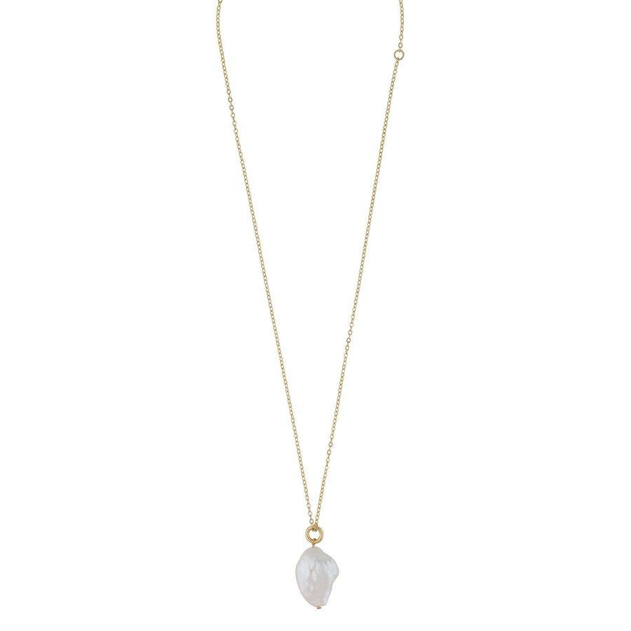 Snö Of Sweden Maxime Pendant Necklace, Gold / White (48 cm)