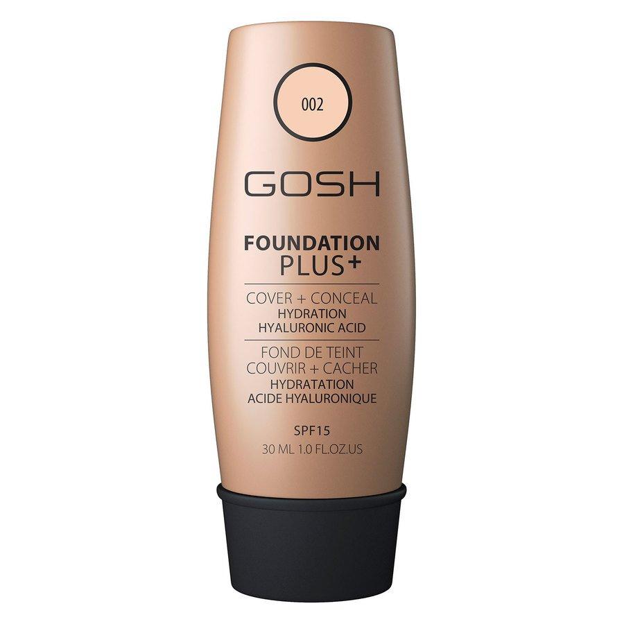 GOSH Foundation Plus+, #002 Ivory (30 ml)