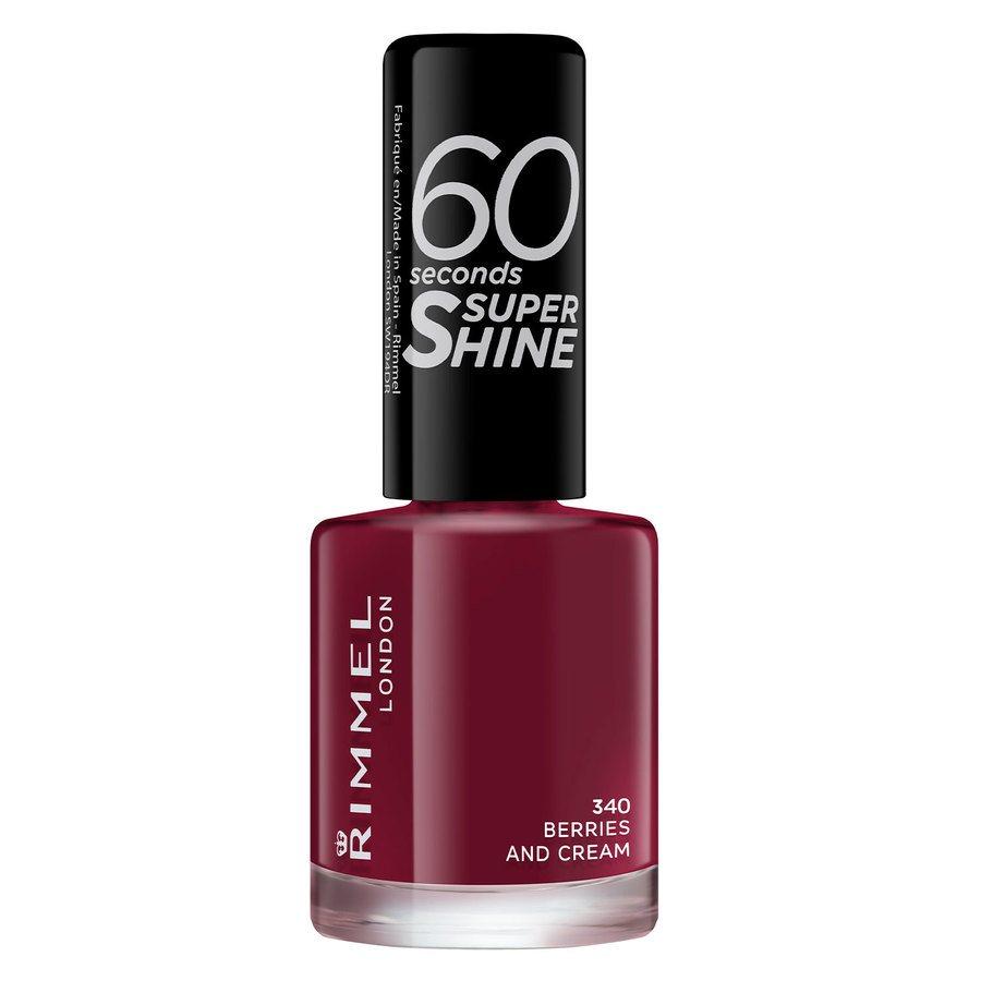 Rimmel London 60 Seconds Super Shine Nail Polish, # 340 Berries and Cream (8 ml)