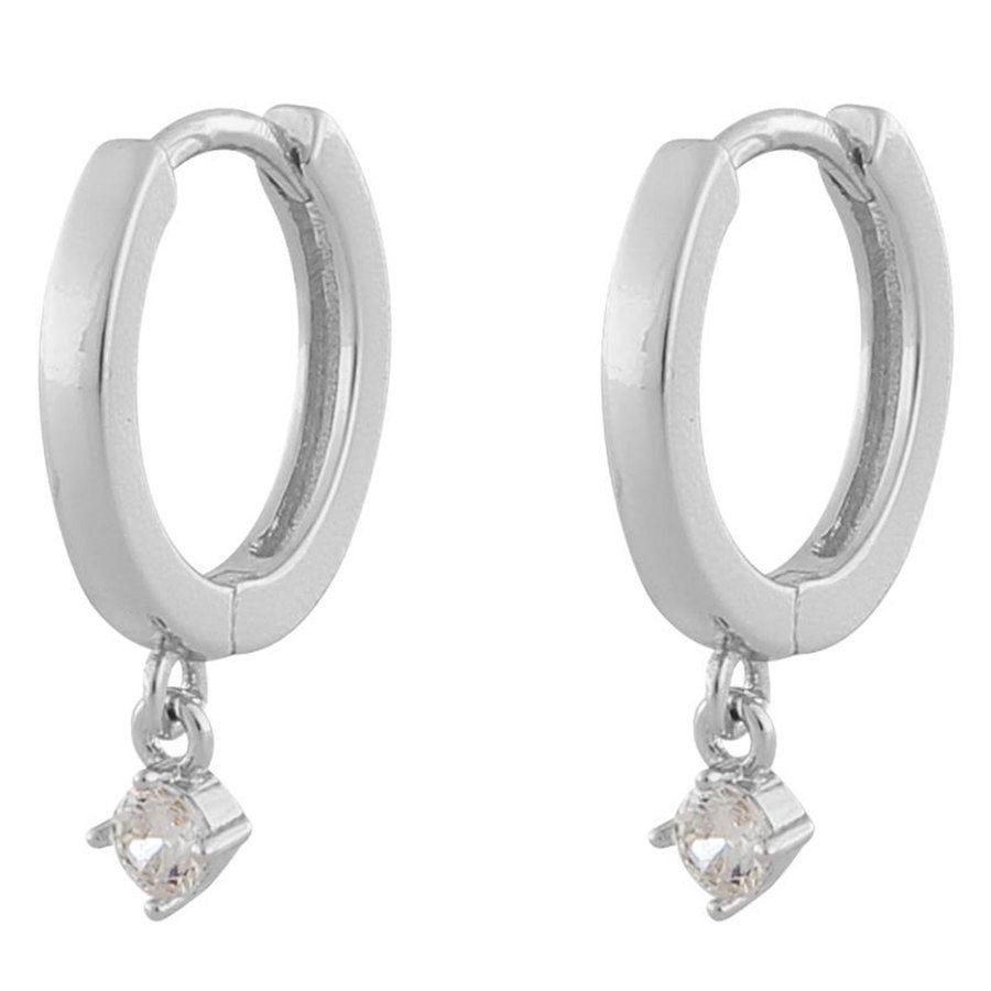 "Snö Of Sweden Camille, Ohrring ""Kleiner Ring"", Silver/Clear"