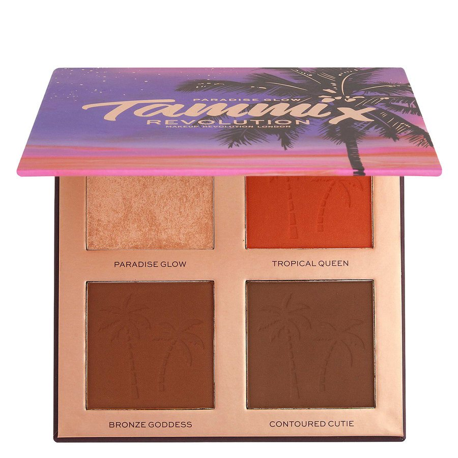 Revolution X Tammi Paradise Glow Medium Deep Face Palette 4x4g