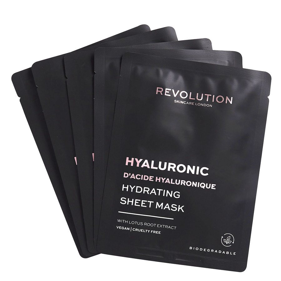 Revolution Beauty Revolution Skincare Biodegradable Hydrating Hyaluronic Acid Sheet Mask 5St.