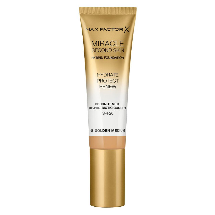 Max Factor Miracle Second Skin Foundation, #006 Golden Medium (33 ml)