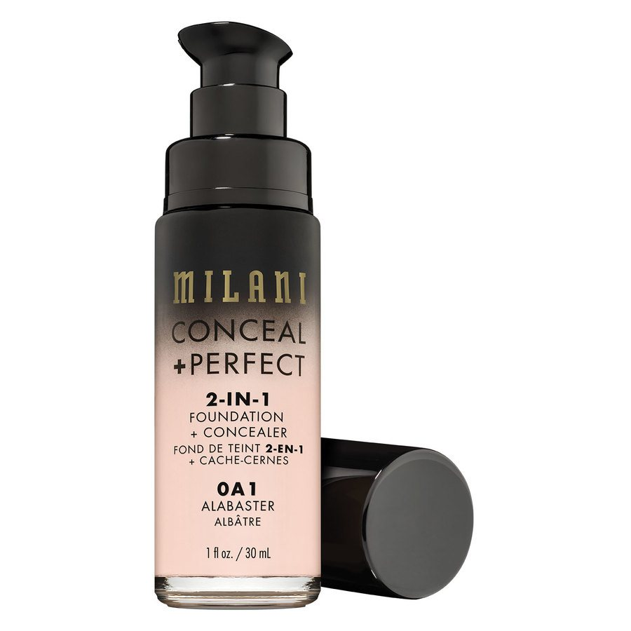 Milani Conceal & Perfect 2 In 1 Foundation + Concealer, Alabaster (30 ml)