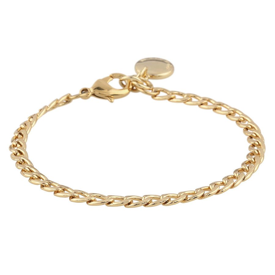 Snö Of Sweden Chase Mario Small Bracelet, Plain Gold