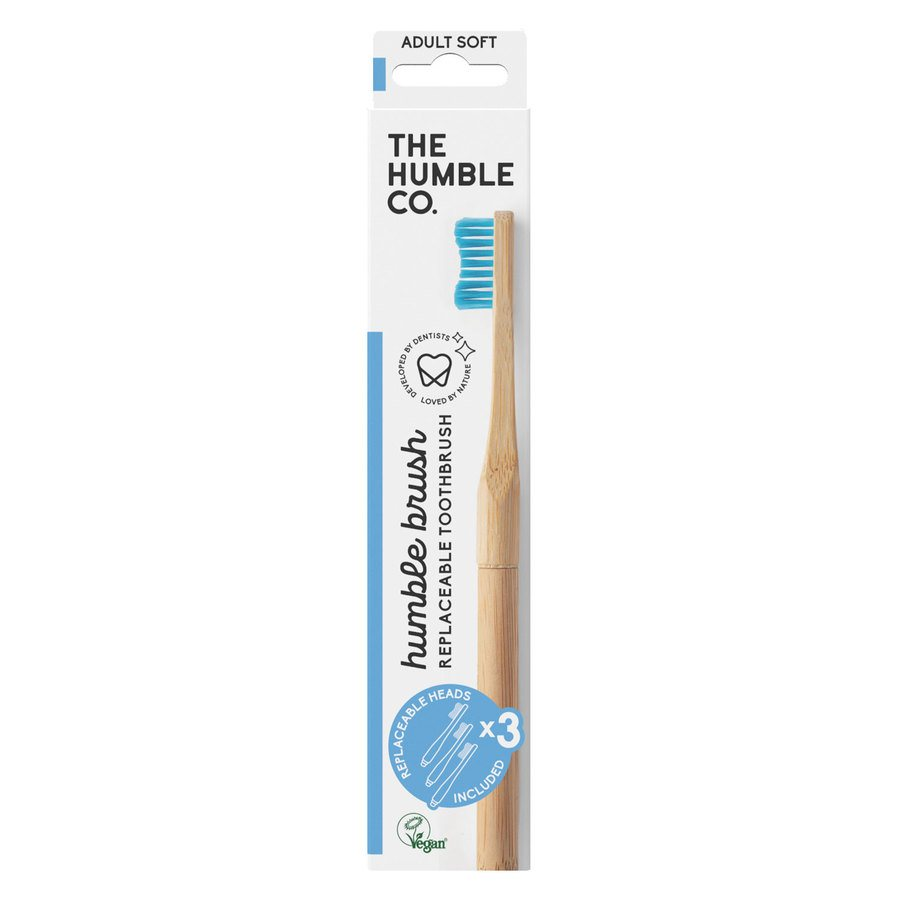 The Humble Co Humble Brush Interchangeable Head, Blue Soft