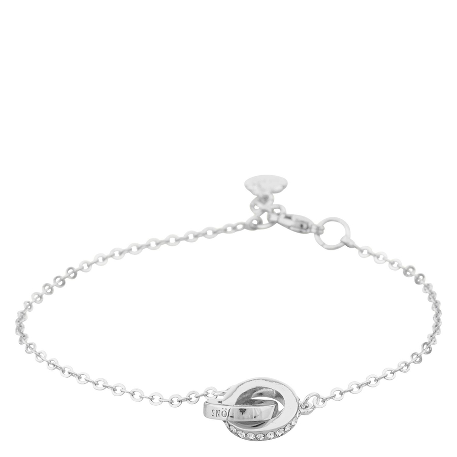 Snö Of Sweden Connected Chain Bracelet, Silver/Clear