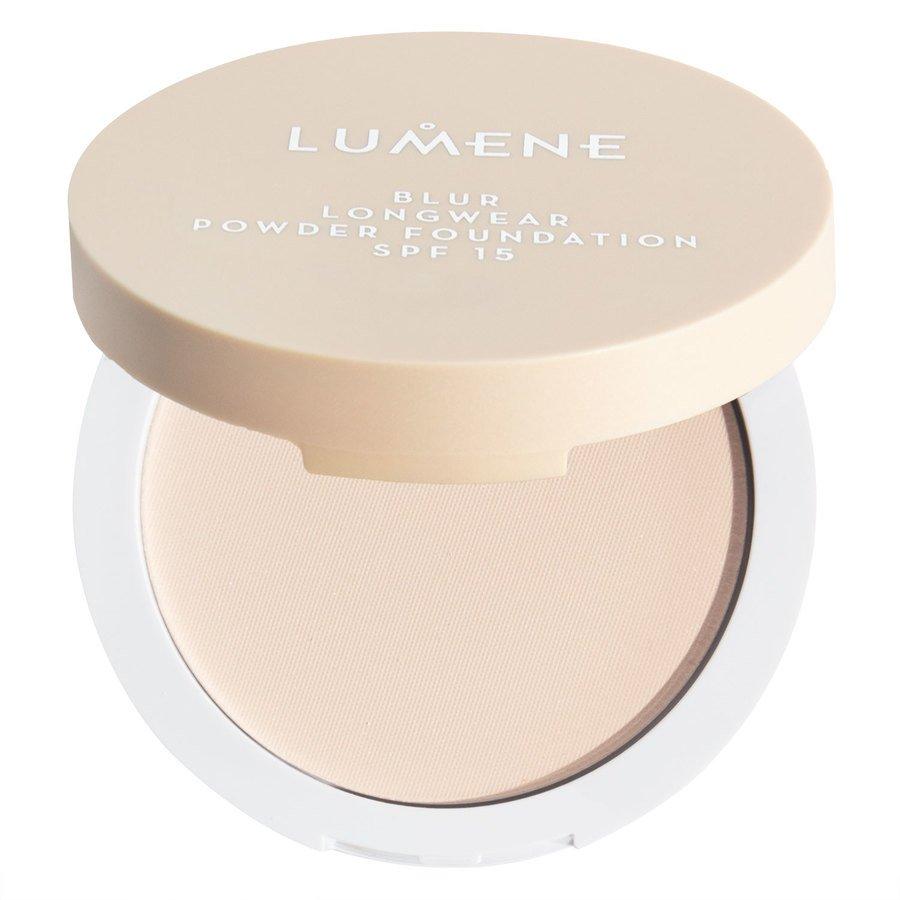 Lumene Blur Longwear Powder Foundation SPF 15, Soft Honey 10g