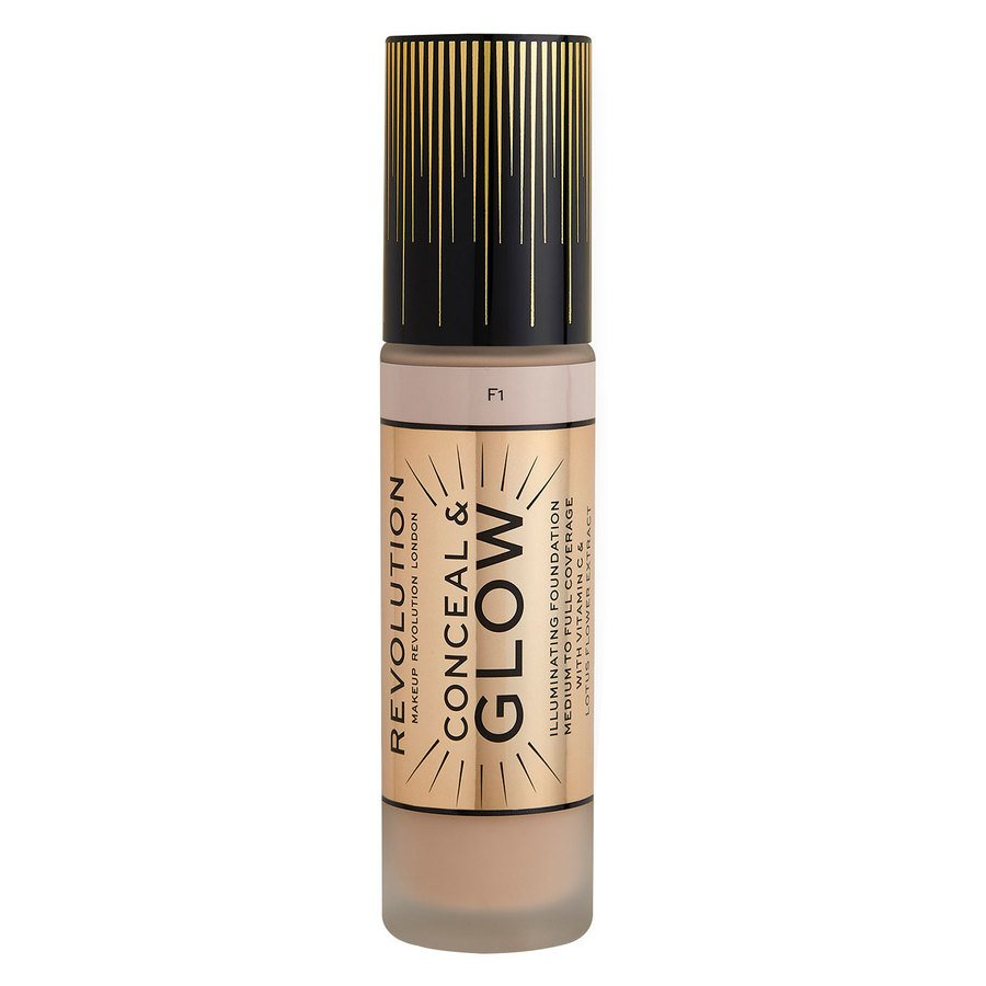 Makeup Revolution Conceal & Glow Foundation, F1 23 ml