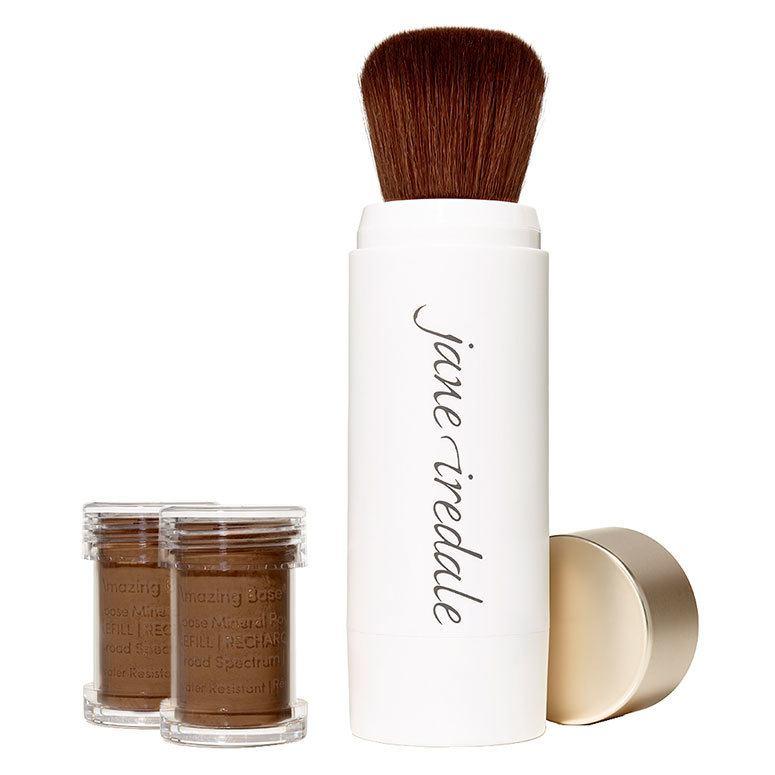 Jane Iredale Amazing Base Refillable Brush, Cocoa 2x Refills