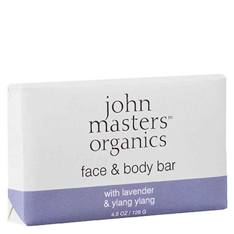 John Masters Organic Lavender, Rose Geranium & Ylang Ylang Soap (128 gr)