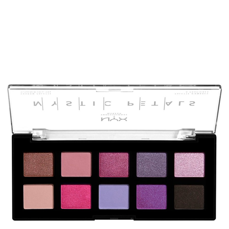 NYX Professional Makeup Mystic Petals Shadow Palette, Midnight Orchid (10 x 0,8 g)