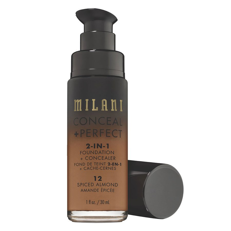 Milani Conceal & Perfect 2 In 1 Foundation + Concealer, Spiced Almond (30 ml)