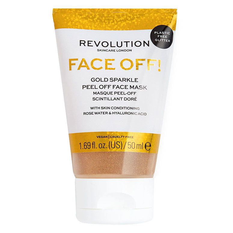 Revolution Skincare Gold Glitter Face Off Mask 50ml