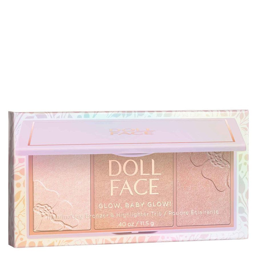 Doll Face Glow, Baby, Glow 3 Shade Glow / Highlighter, Hollywood Halo (11 g)