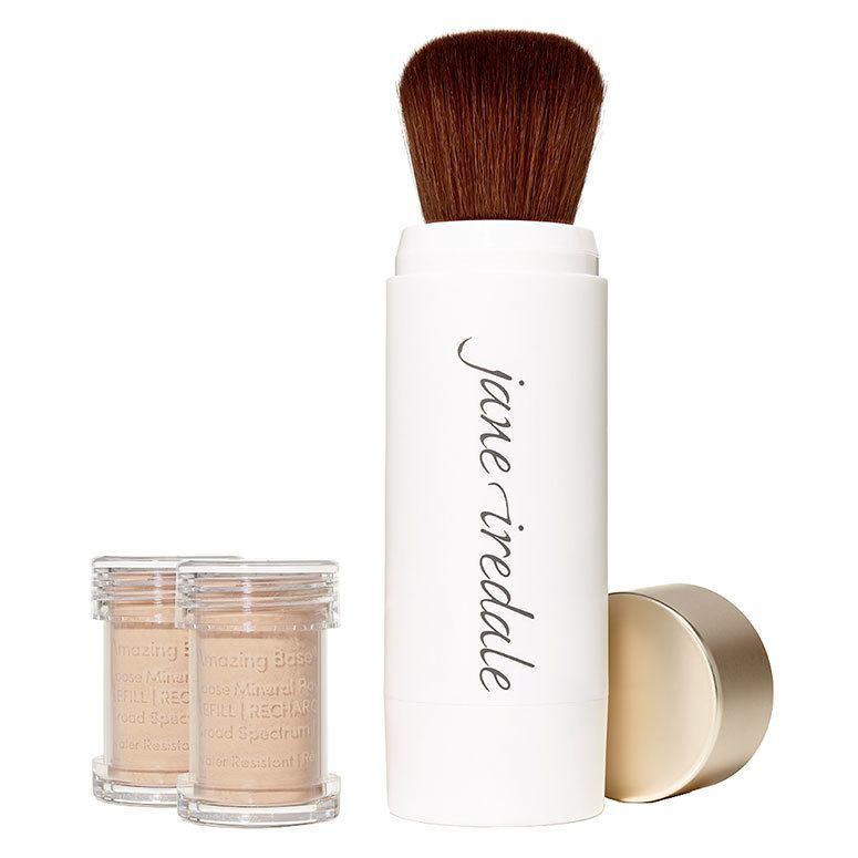 Jane Iredale Amazing Base Refillable Brush, Natural 2x Refills