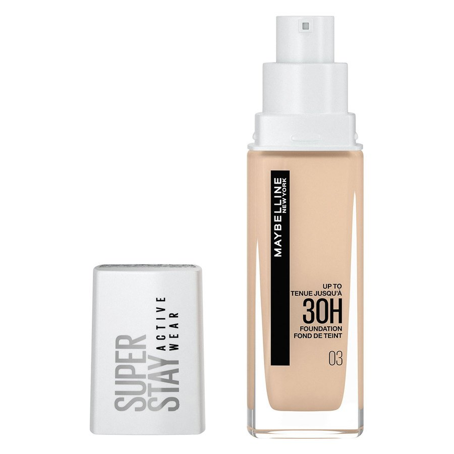 Maybelline 30H Superstay Active Wear Foundation, True Ivory 30 ml