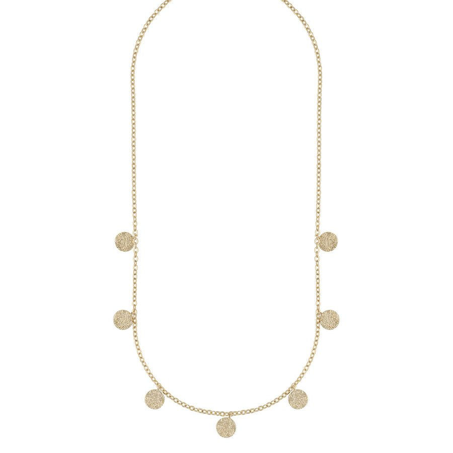Snö Of Sweden Day Charm Necklace, Plain Gold 42cm
