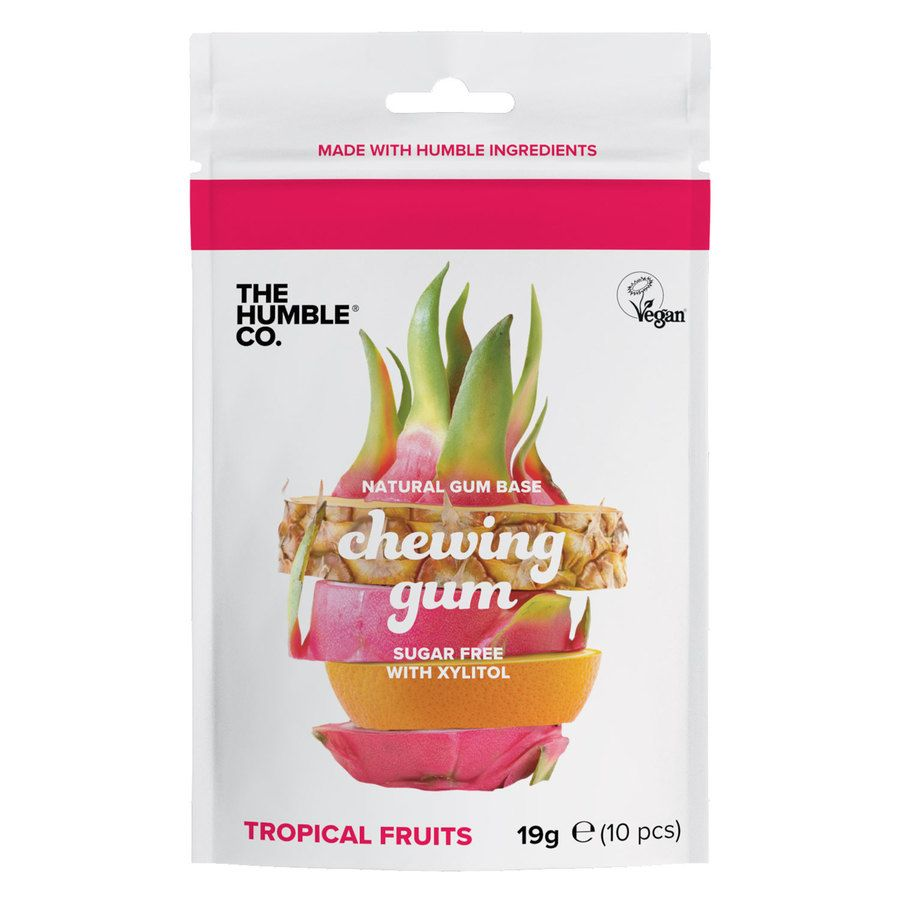 The Humble Co Humble Natural Chewing Gum, Tropical Fruits 10St.