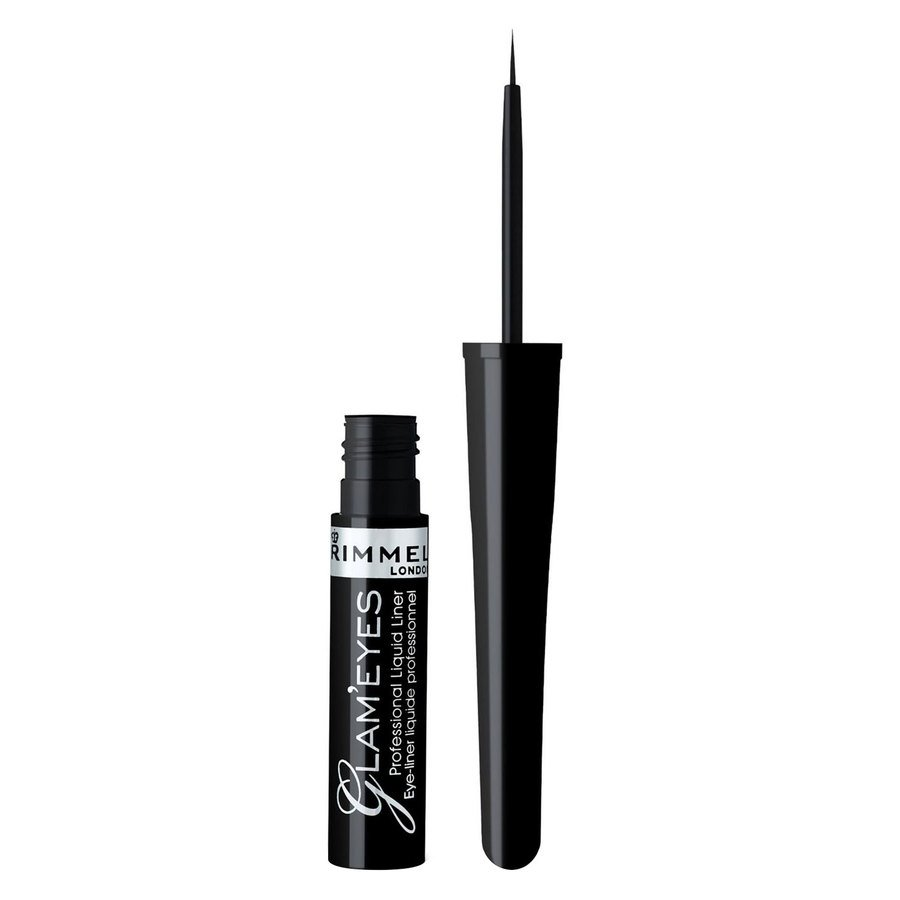 Rimmel London Glam'eyes Professional Liquid Liner, # 001 Black Glamor (3,5 ml)