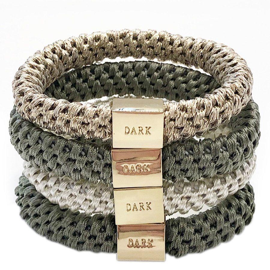 DARK Fat Hair Ties, Faded Army 4 Stück