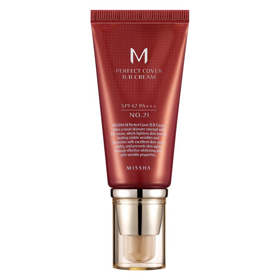 Missha M Perfect Cover BB Cream LSF42/Pa +++, No. 21 Light Beige (50 ml)