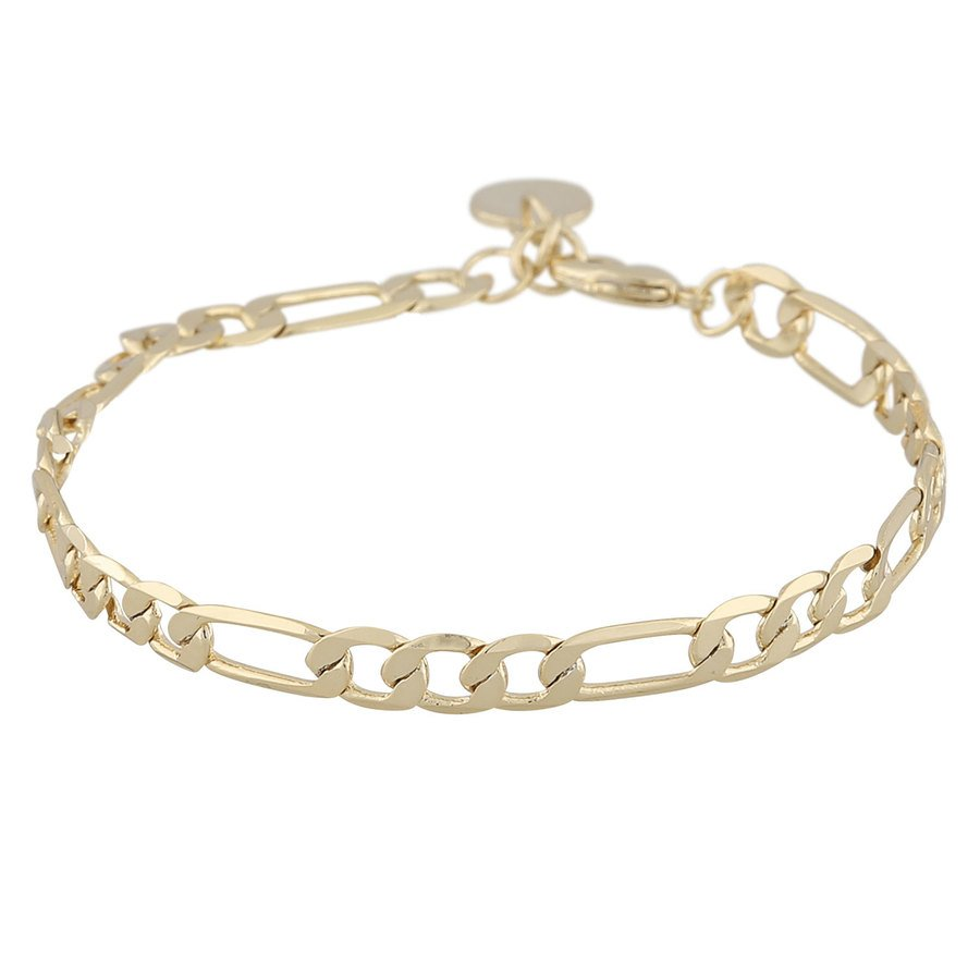 Snö Of Sweden Anchor Chain Armband, Plain Gold