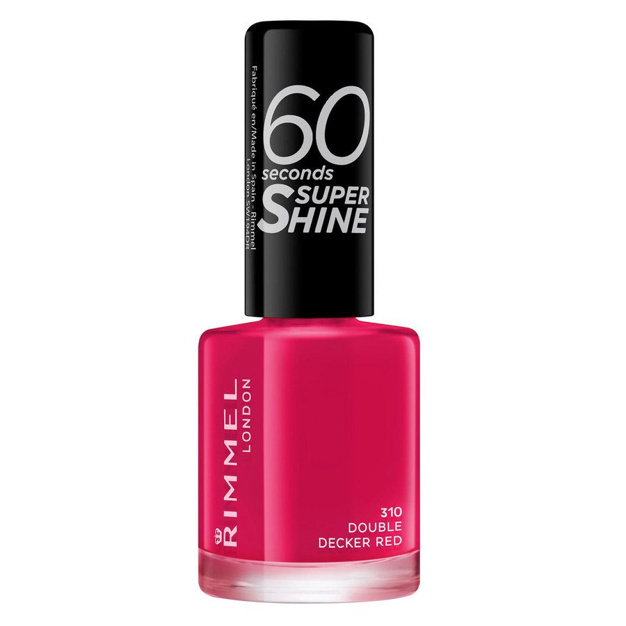 Rimmel London 60 Seconds Super Shine Nail Polish, # 310 Double Decker Red (8 ml)