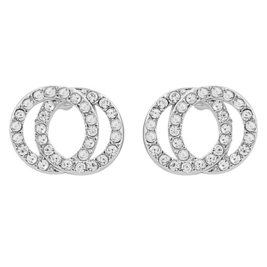 Snö Of Sweden Francis Earring, Silver / Clear (1 Paar)