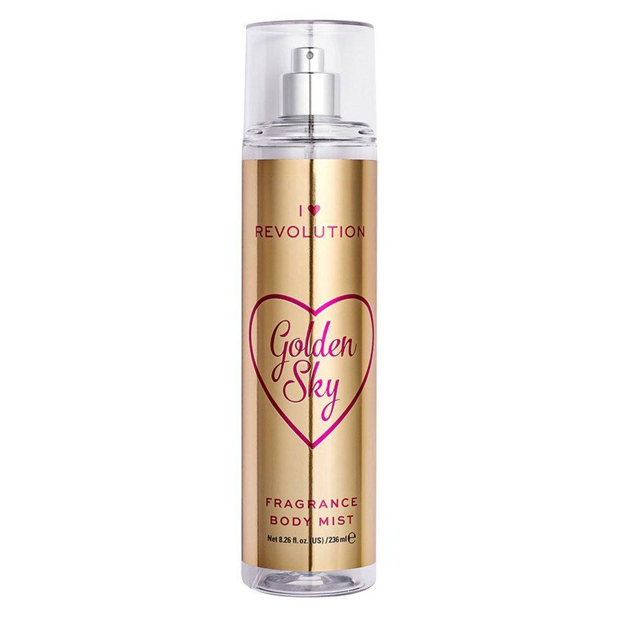 Makeup Revolution I Heart Revolution Body Mist, Golden Sky (236 ml)