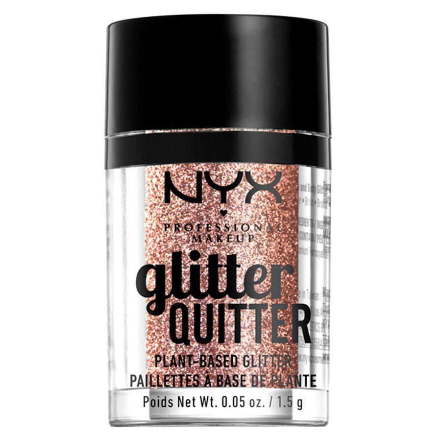 NYX Professional Makeup Glitter Quitter Plant Based Glitter, Bronze (1,5g)