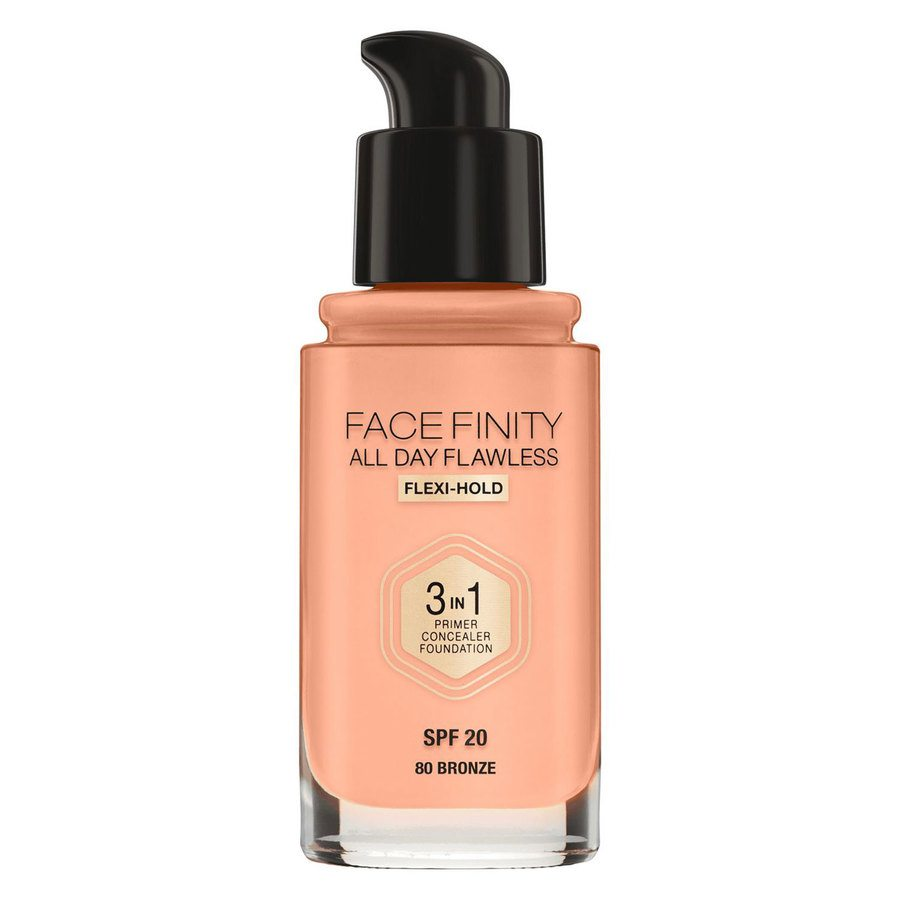 Max Factor Facefinity All Day Flawless 3-In-1 Foundation, #80 Bronze (30 ml)
