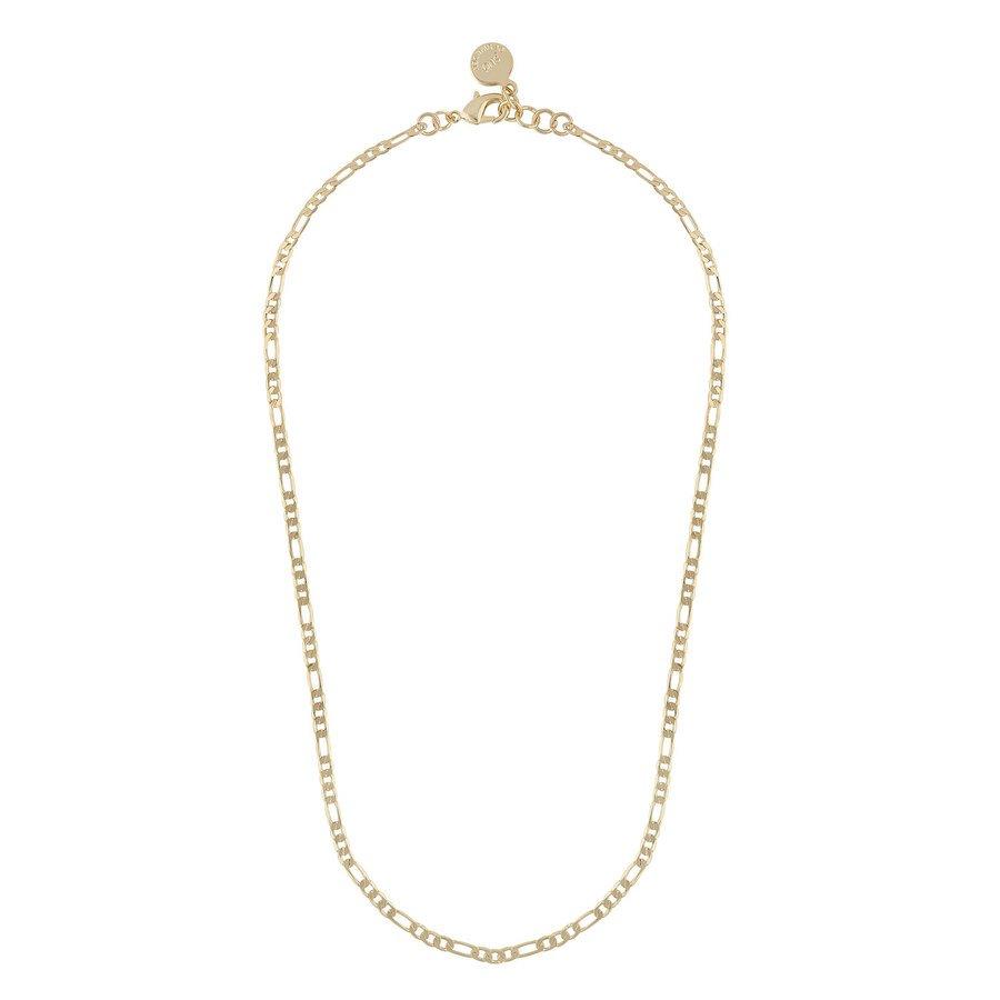Snö Of Sweden Anchor Small Chain Halskette (42cm), Plain Gold