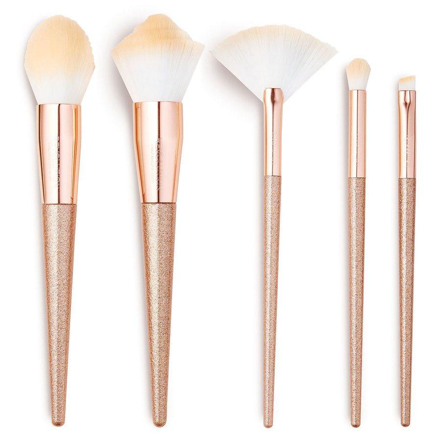 Makeup Revolution Precious Stone Brush Set, Rose Quartz