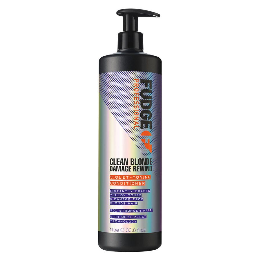 Fudge Clean Blonde Damage Rewind Violet Toning Conditioner (1000 ml)