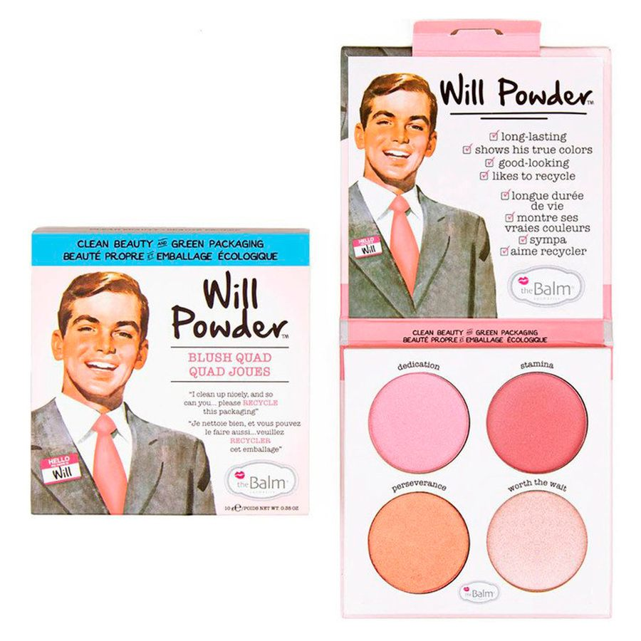 theBalm Will Powder Blush Quad (10 g)