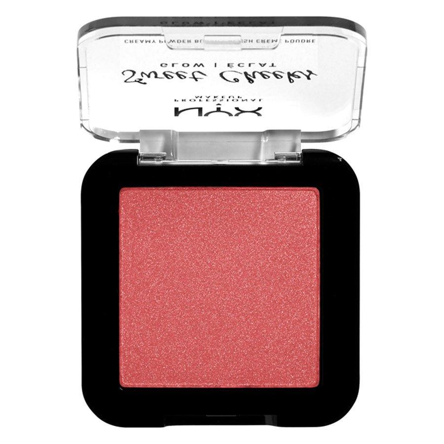 NYX Professional Makeup Sweet Cheeks Creamy Powder Blush Glow, Citrine Rose (5g)