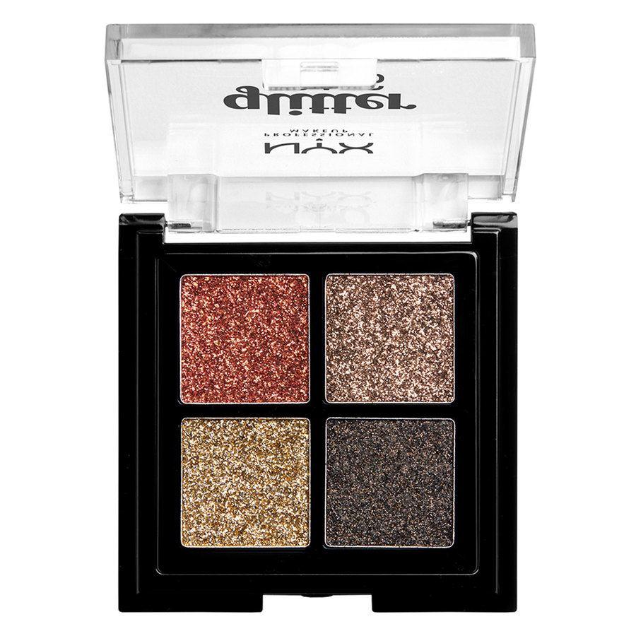 NYX Professional Makeup Glitter Goals Cream Quad Palette, Galactica