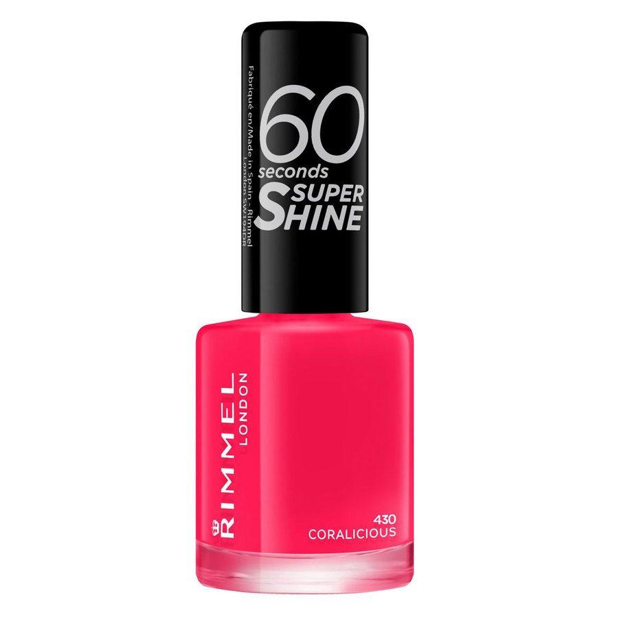 Rimmel London 60 Seconds Super Shine Nail Polish, # 430 Coralicious (8 ml)