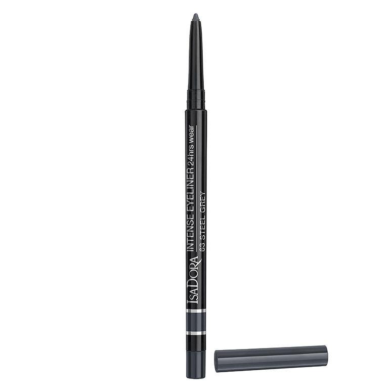 IsaDora Intense Eyeliner 24hrs Wear, 63 Steel Grey 0,35g